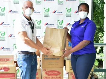 Carib Cement assists with combating food insecurity