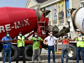 Carib Cement, Jamaica Pre-mix supports St. James Municipal Corporation's Sam Sharpe Square sanitisation