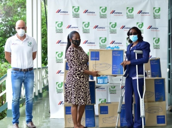 Caribbean Cement donates handwashing stations to schools