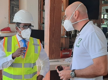 State Minister tours Carib Cement plant